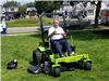 Image of electric mower demonstration