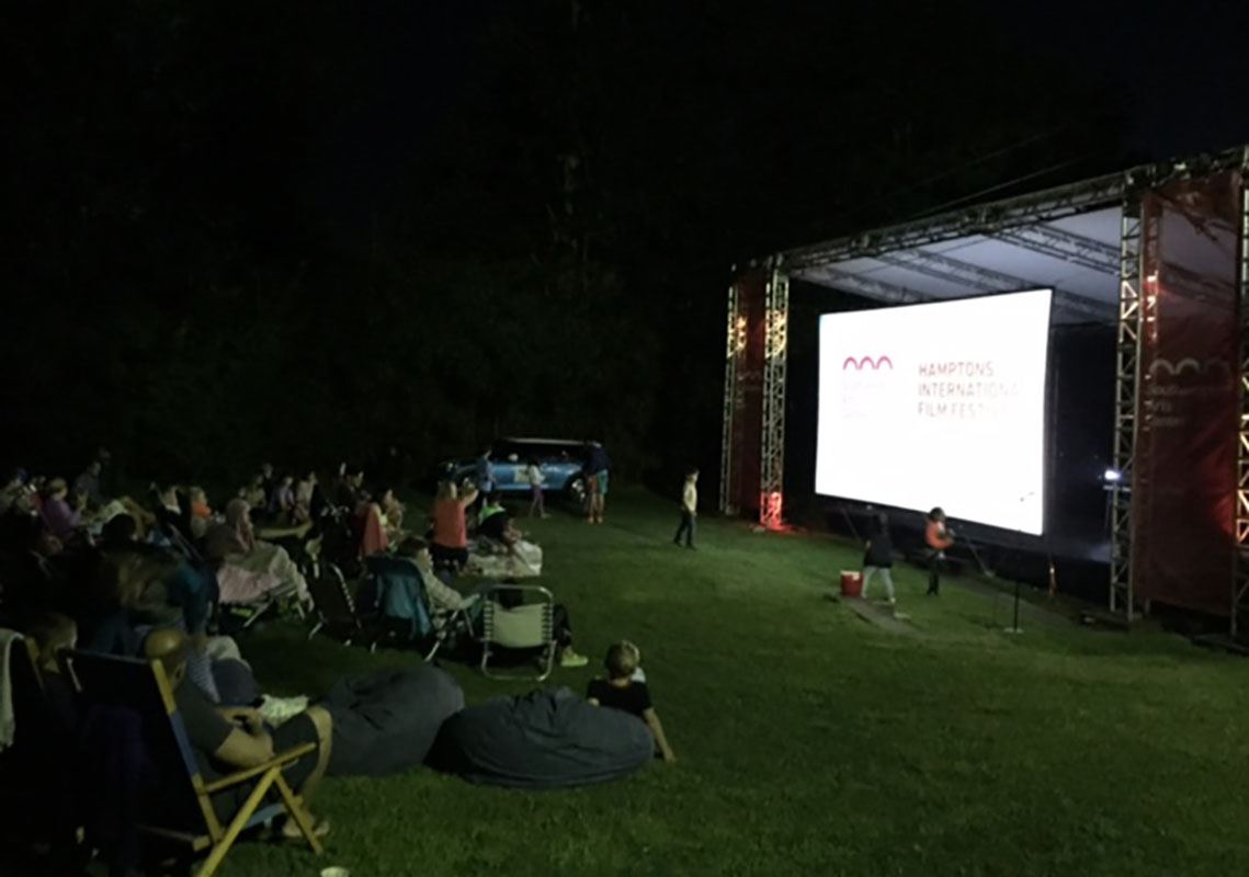 Image of Southampton Arts Center outdoor movies