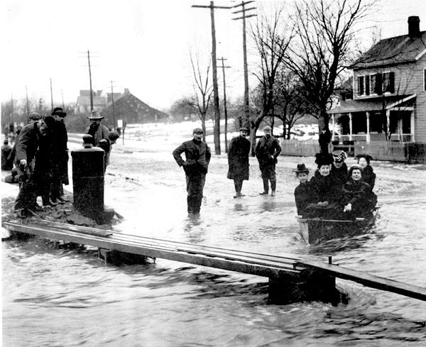Village Citizens Dealing with the Flood