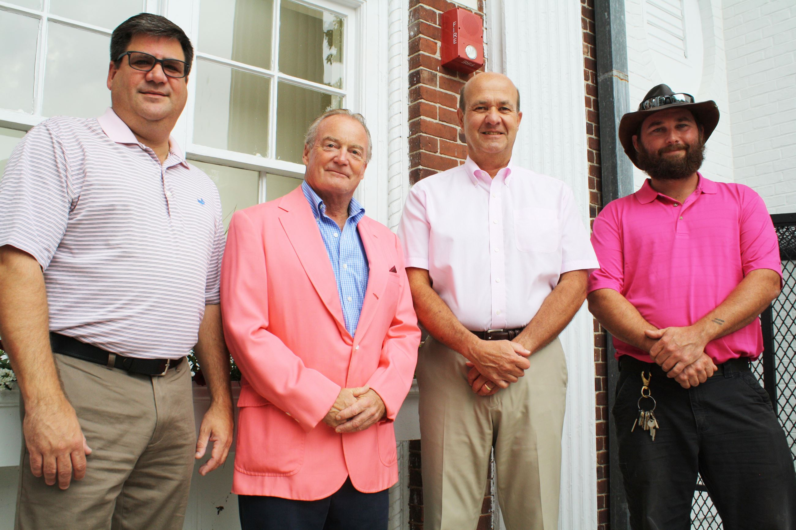 Image of Southampton Village Officials - Real Men Wear Pink campaign