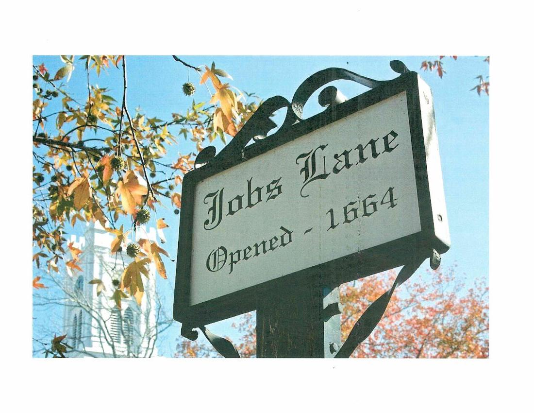 Jobs Lane Sign